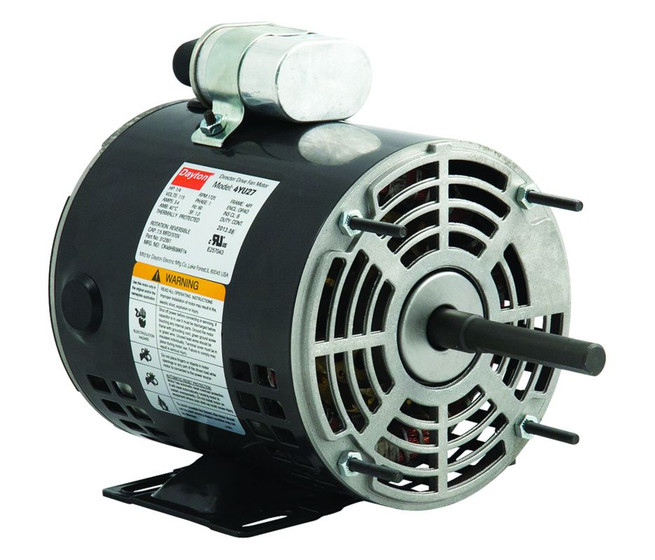 1 4 hp direct drive blower motor 1725 rpm 115v dayton 4yu27 for Dayton direct drive fan motor