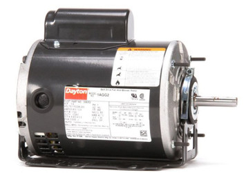 1/3 hp Belt Drive Blower Cap Start Motor 1725 RPM 115/208-230V Dayton 1AGG2