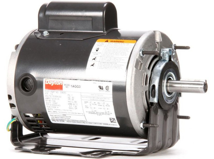 1 2 hp belt drive blower cap start motor 1725 rpm 115 208 for 1 2 hp electric motor 1725 rpm