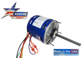 """1/2-1/6 hp 1075 RPM 4-Speed 5 5/8"""" 208-230V Direct Drive Furnace Motor # US5461"""