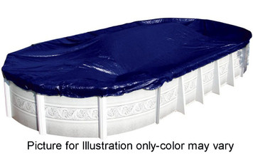 SWIMLINE 18' x 38' Oval Winter Above Ground Swimming Pool Cover 8 Year Limited Warranty S1838OV