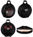 Ahead Bags DELUXE HEAVY DUTY CYMBAL CASE w/padded Tuck-Away straps