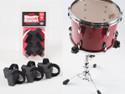 Little Booty Shakers- Black, Foam Isolation Snare Basket Feet, Pack of 3