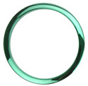 "Bass Drum O's - 6"" Green Chrome Drum O's"
