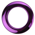"Bass Drum O's - 2"" Purple Chrome Drum O's/Tom Ports (2 Pack)"