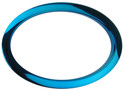 """Bass Drum O's - 6"""" Blue Oval"""