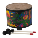 "Remo Drum, KIDS PERCUSSION¨, Floor Tom, 10"" Diameter, 7.5"" Height, Fabric Rain Forest"