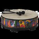 "Remo Drum, KIDS PERCUSSION¨, Gathering Drum, 18"" Diameter, 8"" Height, Fabric Rain Forest"