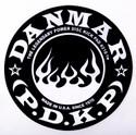 DANMAR BASS DRUM IMPACT PAD- Flame