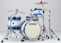 "Tama Superstar Classic 4pc 18""BD shell kit 14x18, 8x12, 14x14, 5x14 with single tom holder in Jet Blue Burst lacquer"