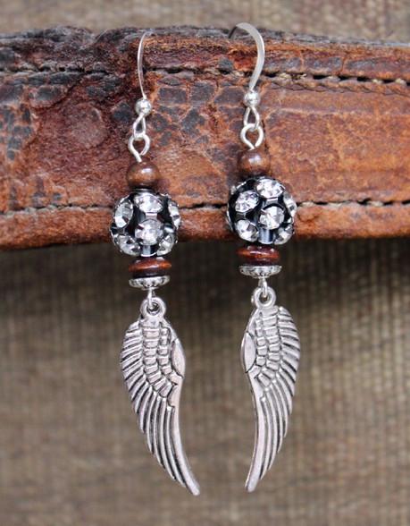 Angel Wing Rhinestone Bohemian Earrings