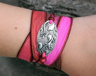 Tweet Ribbon Wrap Bracelet