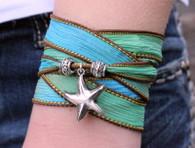 Starfish Ribbon Wrap Bracelet