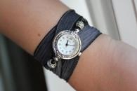 Round Ribbon Wrap Watch
