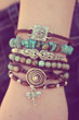 As Seen In Vogue Magazine - Turquoise Boho Bracelet Stack - www.everdesigns.com