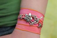 Maui - Silk Ribbon Wrap Bracelet
