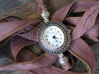Silk Ribbon Wrap Watch by Ever Designs