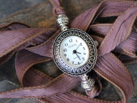 Silk Ribbon Wrap Watch by Ever Designs