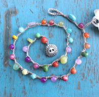 Multi-Color Bohemian Crocheted Necklace