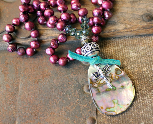Dragonfly Knotted Bohemian Necklace
