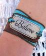 Believe - Silk Ribbon Wrap Bracelet
