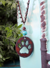 Paw Print Bohemian Necklace