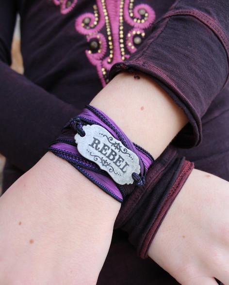 Rebel Ribbon Wrap Bracelet