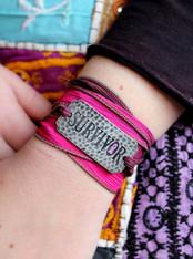 Survivor Ribbon Wrap Bracelet