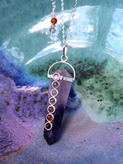 Chakra Necklace - Amethyst Gradient