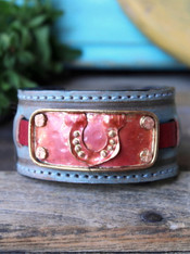 Lucky Horseshoe Leather Cuff