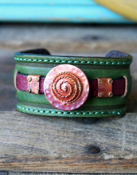 Spiral Leather Cuff