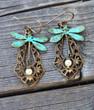 Dragonfly Vintage Earrings