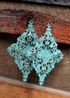 Lola Turquoise Verdigris Statement Earrings