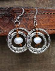 Ripples Pearl Earrings