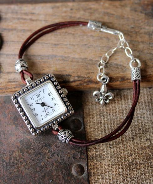 Delicate Leather Watch Bracelet