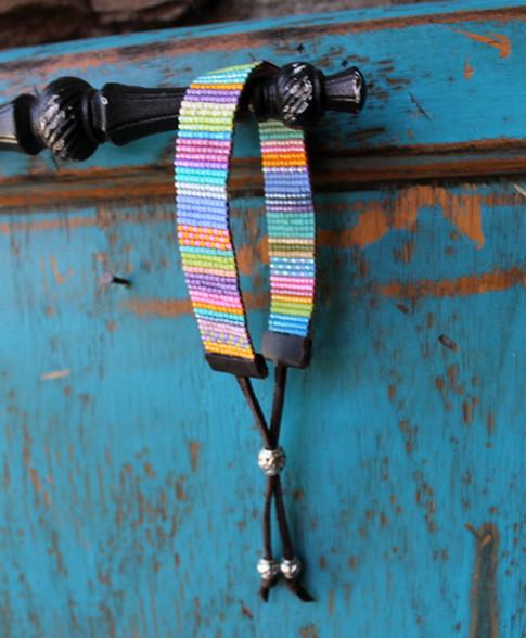 Handwoven Beaded Bracelet - Sara