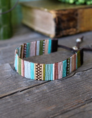 Handwoven Beaded Bracelet - Julia