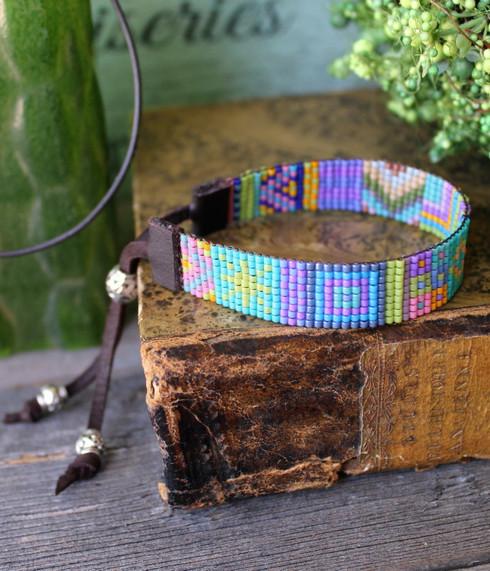 Handwoven Beaded Bracelet - Clara