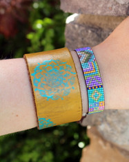 Handwoven Beaded Bracelet - Clara