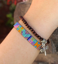 Handwoven Beaded Bracelet - Lea