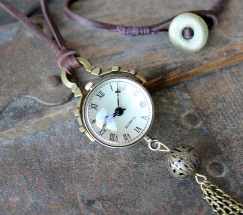 Steampunk Necklace Watch