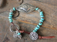 Mermaid Turquoise Knotted Bracelet