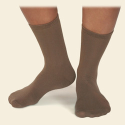 Organic Cotton Dress Sock - Herringbone