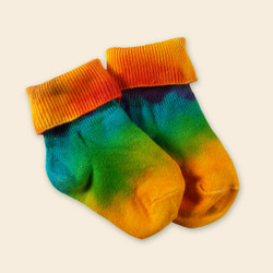Organic Cotton Baby Sock - Tie Dye Anklet