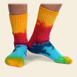 Organic Cotton Kids' Sock - Tie Dye Crew