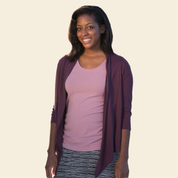 Organic Cotton Mesh Wrap Top