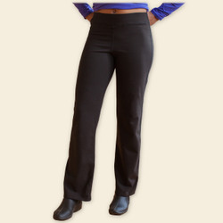 Organic Cotton Straight Leg Pants - Black