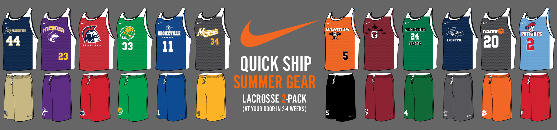 Custom Nike Lacrosse Team Practice Pack