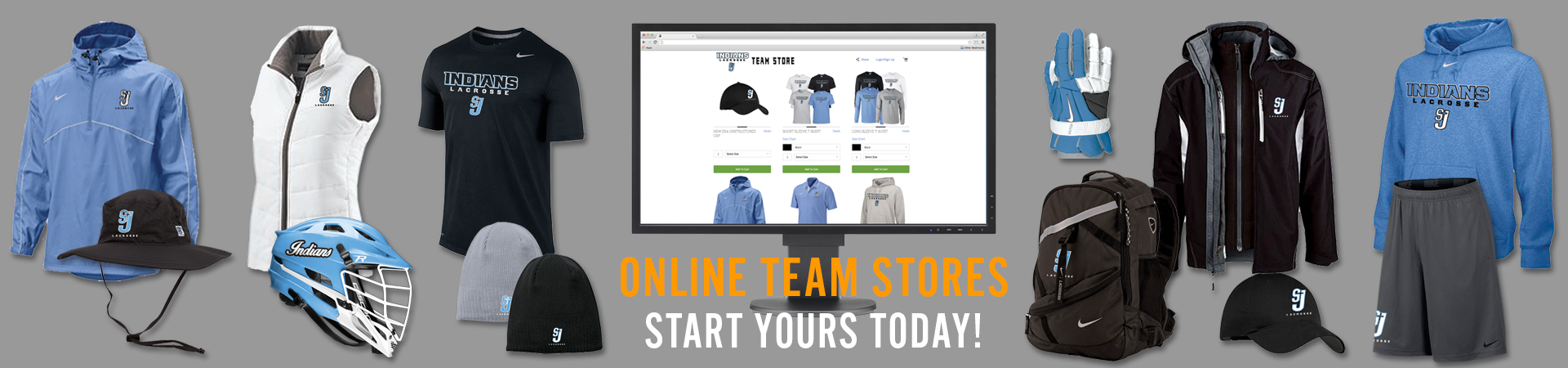 Custom online team stores