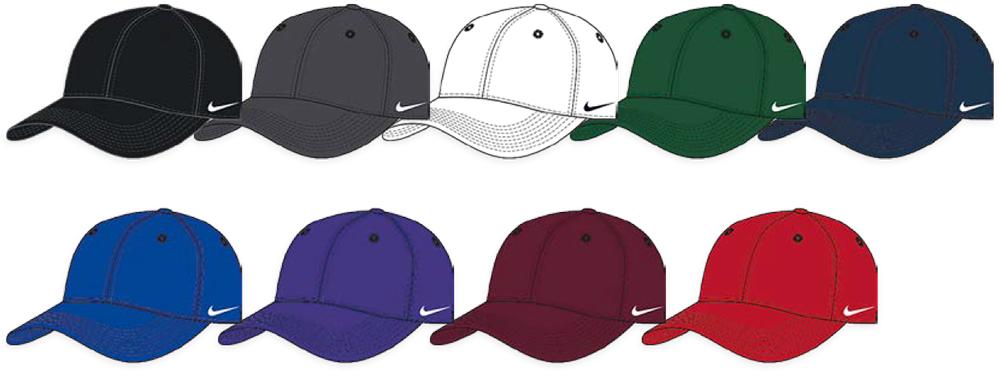 Custom Nike Team DF Swoosh Flex Baseball Hats